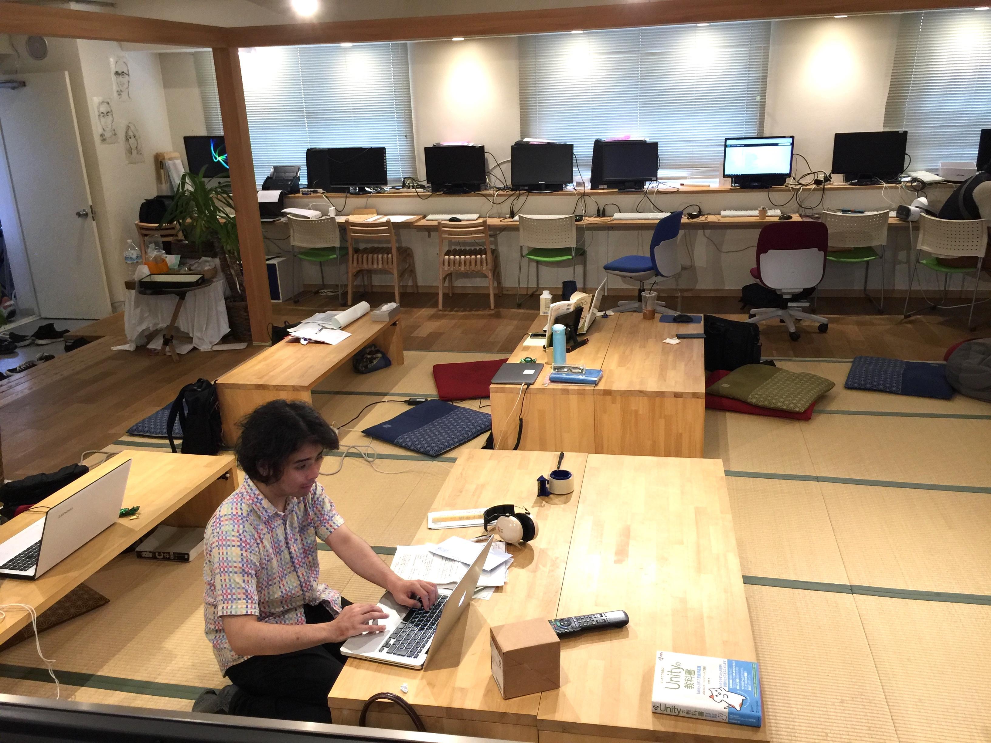 就労移行支援施設 GFTD.WORKS(ギフテッドワークス)のオープンスペース