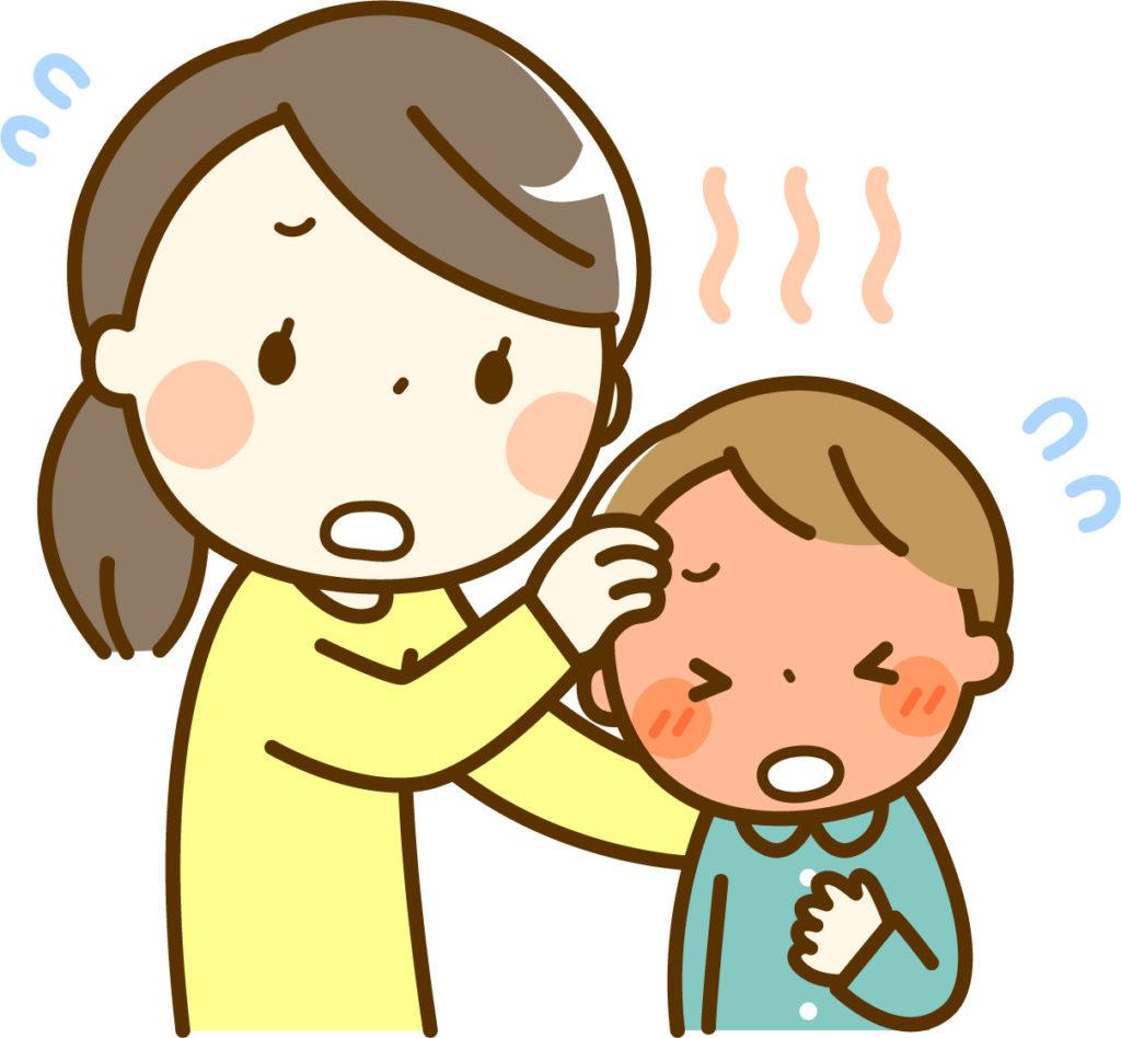 パニック障害をおこした子供をあやす親