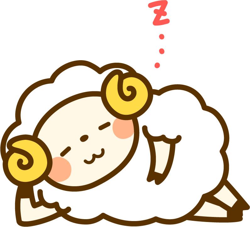 サボっている羊のキャラクター