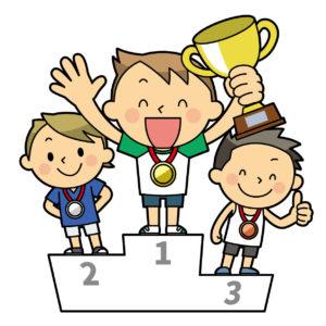 パラリンピックの表彰台のイメージ
