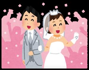 結婚を喜ぶ二人