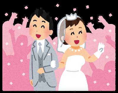 結婚式を挙げている方たち