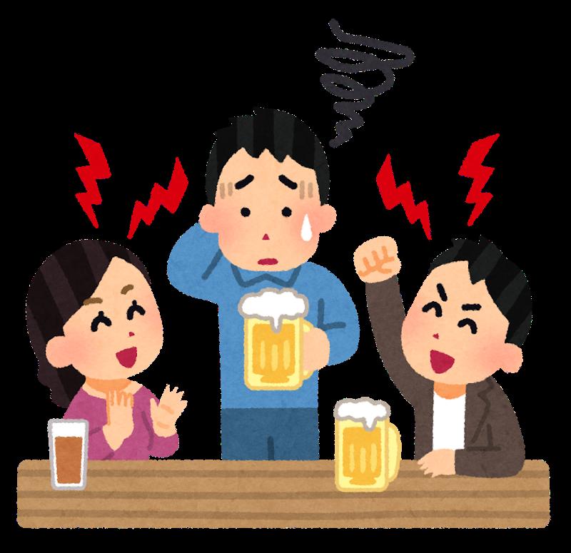 会社の飲み会が苦手…