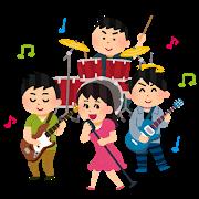 バンド活動を楽しむ男女