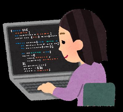 プログラミング言語を使用して業務を行うバックエンドエンジニアの女性