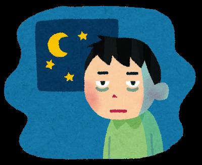 うつ病の為、生活が夜行性タイプになっている男性