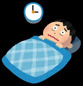 不眠症状に悩む二次障害を持つ男性