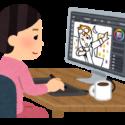 illustratorを使う女性