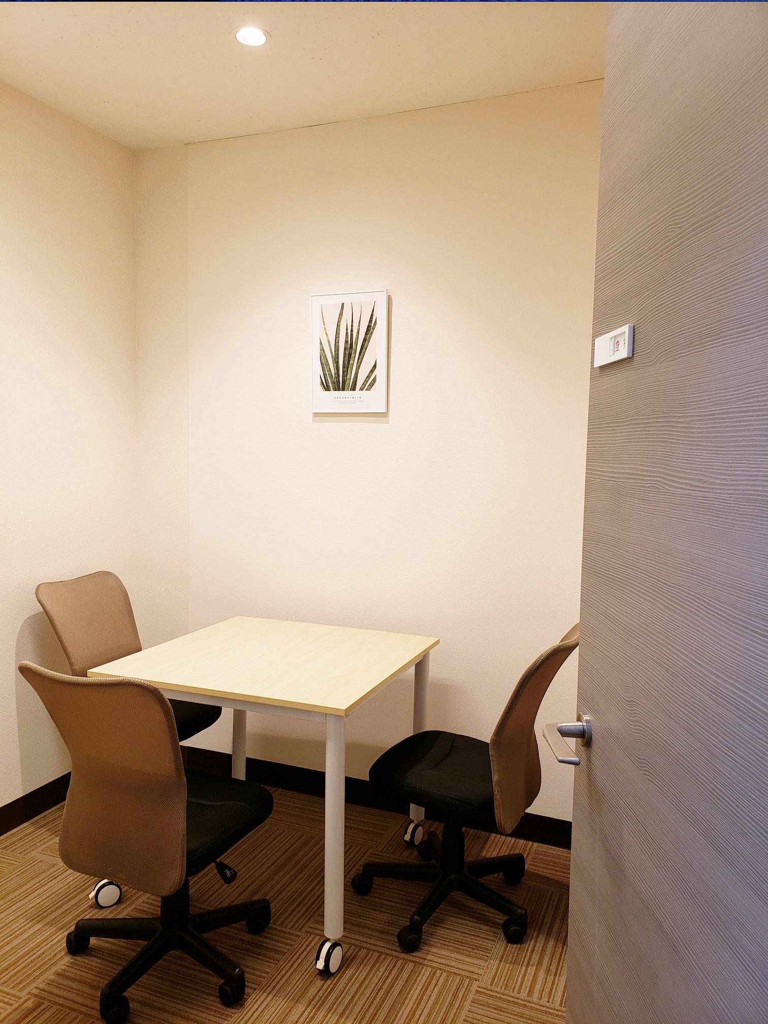 ディーキャリア 品川サウスオフィス、面談室