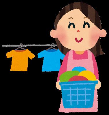 家事代行で、洗濯を行う女性