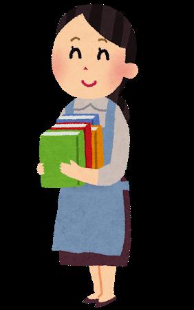 図書館司書の女性