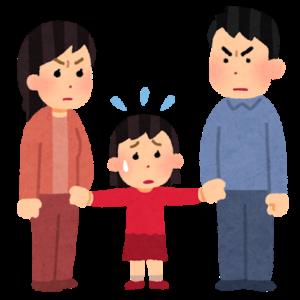 結婚生活の危機にある、子供のいる家族