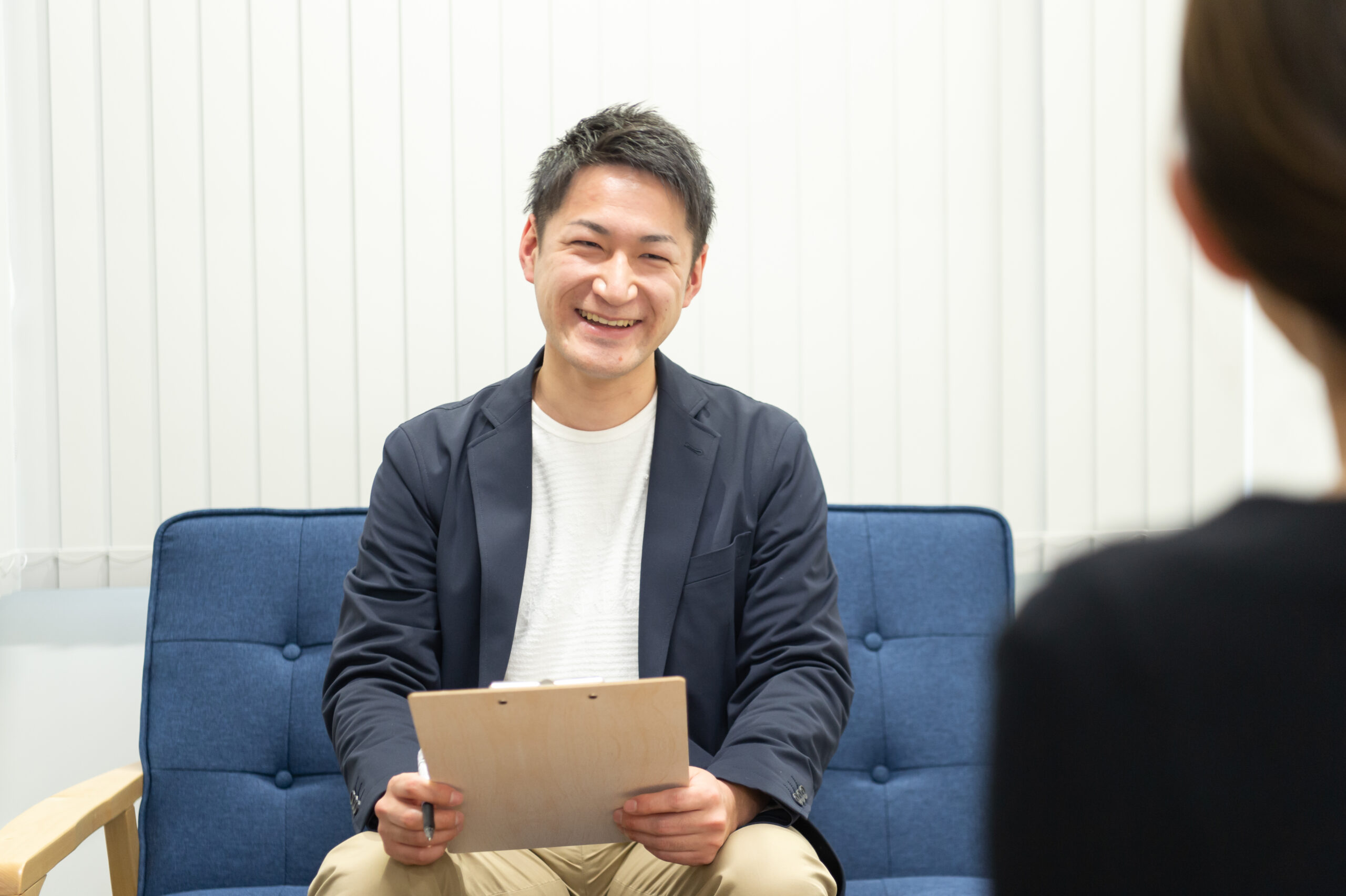 るりはり渋谷の男性スタッフの面談風景
