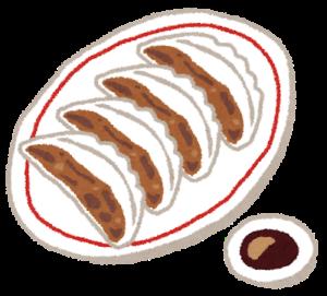 餃子と醤油のイメージ