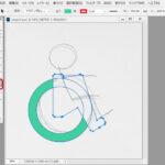 車椅子のデザイン画像