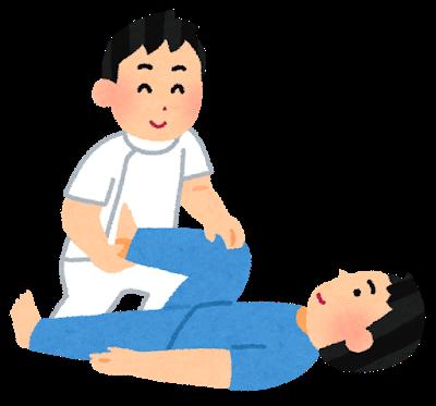 リハビリを行う理学療法士と患者
