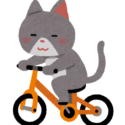 自転車に乗る猫